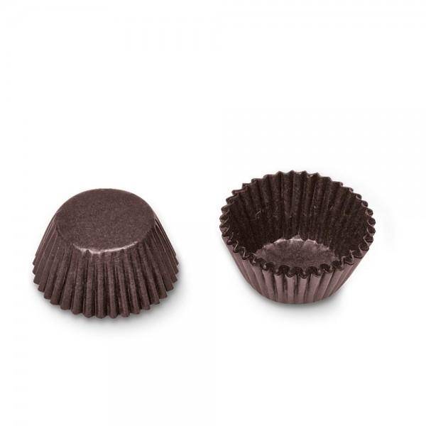 Cupcake Backform Pralinenkapseln ø 26 x 18 mm Braun 100 Stück