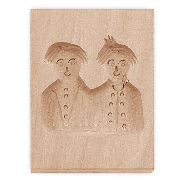 Holz-Prägeform Max und Moritz ca. 5,5 x 8 cm