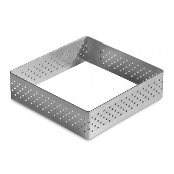 Tarte-Rahmen Eckig 7 x 7 cm / H 2 cm perforiert