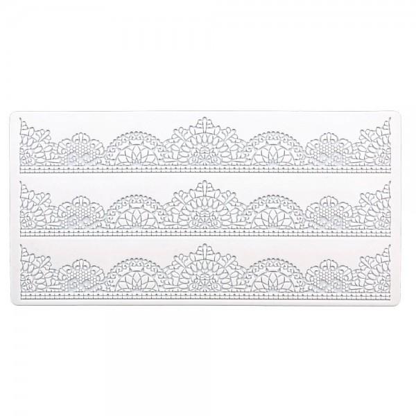 Bordürenmatte Vintage ca. 39,5 x 19,5 cm Weiß Silikon