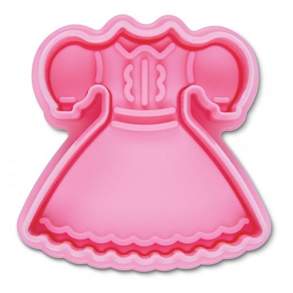 Prägeausstecher Kleid ca. 6 cm Rosa