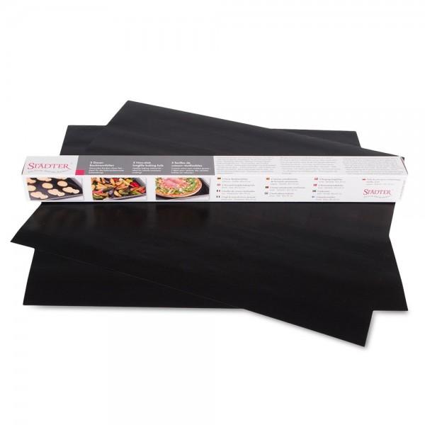 Dauer-Backtrennfolie 33 x 40 cm Schwarz 2 Stück