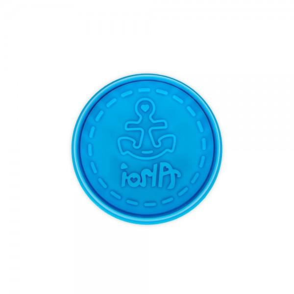 Prägeausstecher Ahoi ca. 6,5 cm Hellblau
