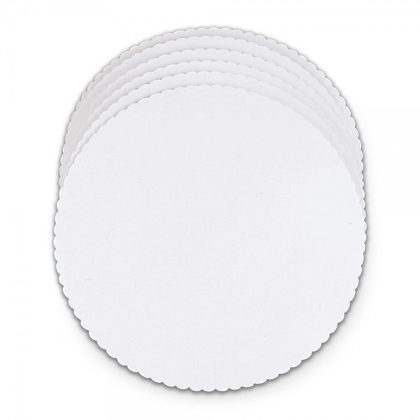 Tortenscheiben ca. ø 28 cm Weiß 6 Stück