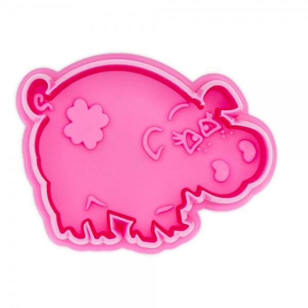 Prägeausstecher Schwein ca. 6 cm Pink / Purple