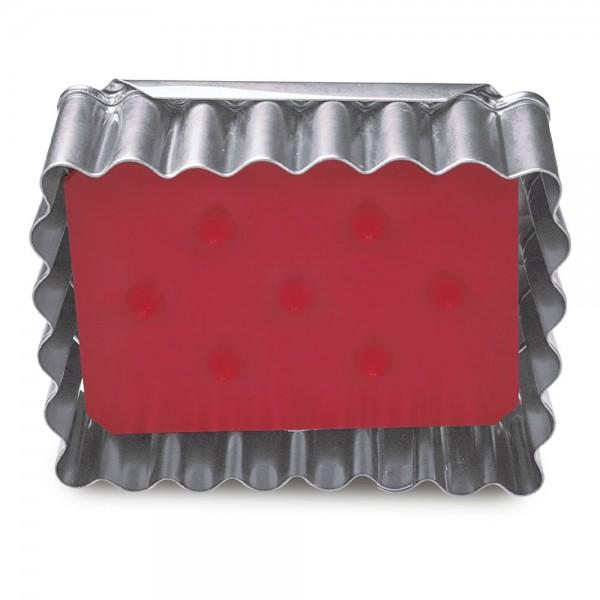 Prägeausstecher Albertle ca. 6 x 4,5 cm Rot zerlegbar, 3-teilig