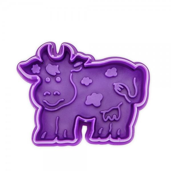 Prägeausstecher Kuh 7 cm Violett