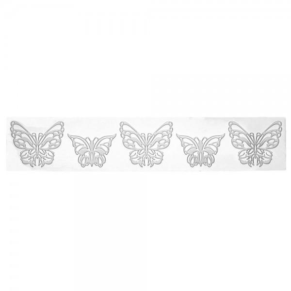 Dekormatte Schmetterling ca. 39,5 x 7,5 cm Weiß Silikon