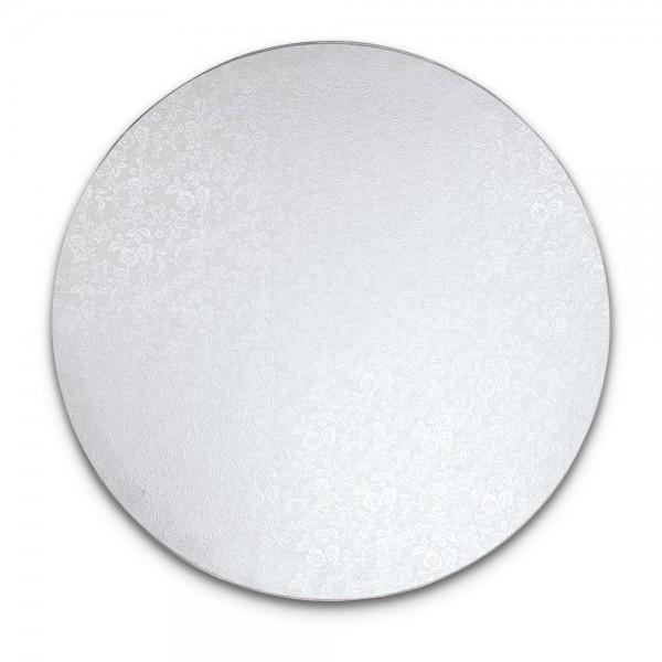 Kuchenplatte ca. ø 25 cm Weiß Rund extra stark