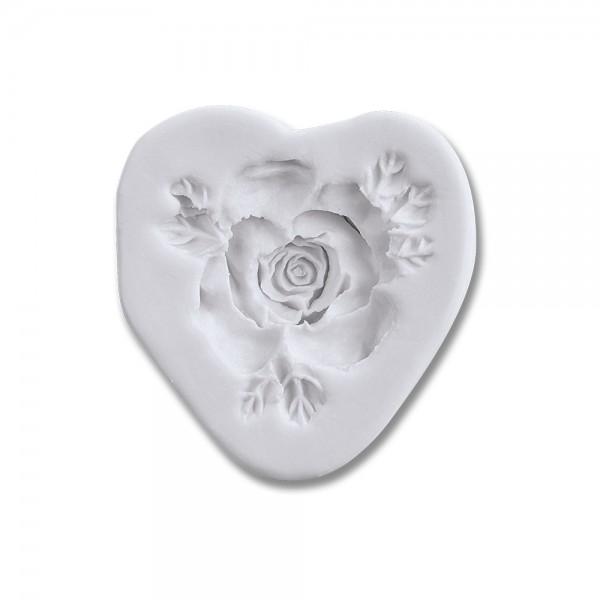 Prägeform  Rose ca. 4,5 cm Weiß
