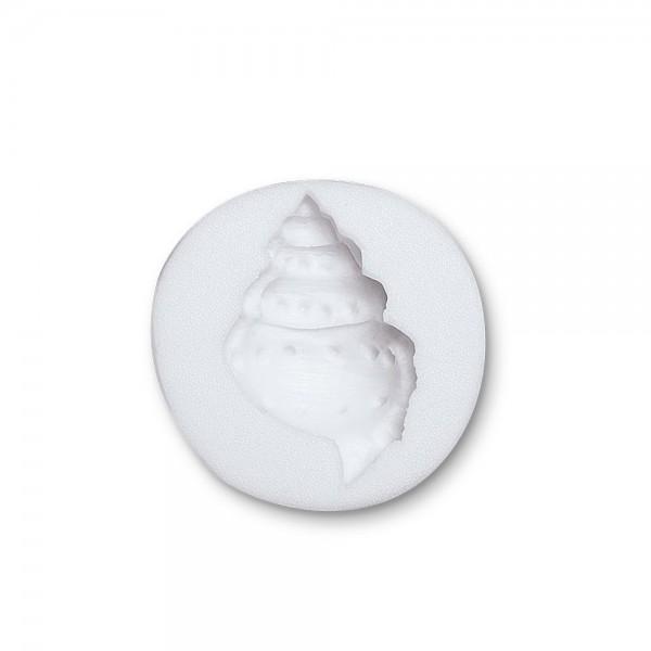 Prägeform  Schnecke ca. 5 cm Weiß Reliefform