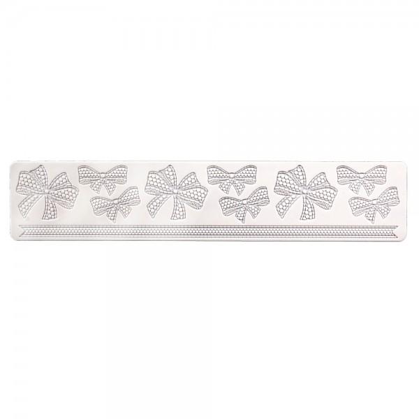 Dekormatte Schleife ca. 39,5 x 8 cm Weiß Silikon