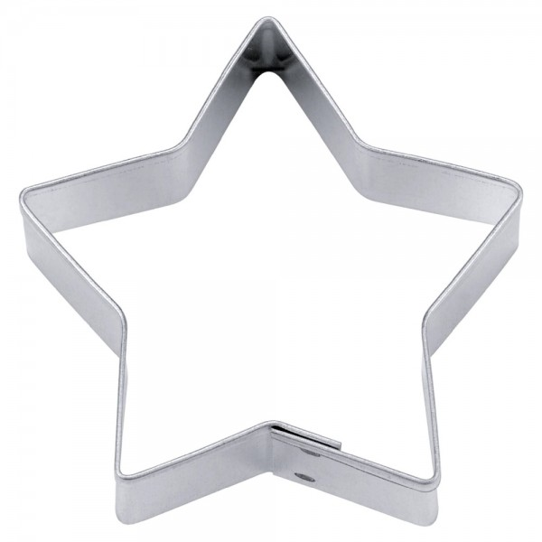 Ausstecher Stern ca. 6 cm 5-zackig