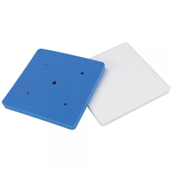 Modellierwerkzeug Modellierplatten ca. 19,5 x 19,5 cm Weiß / Blau Set, 2-teilig