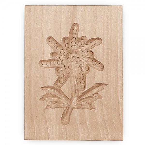 Holz-Prägeform Edelweiß ca. 5,5 x 8 cm