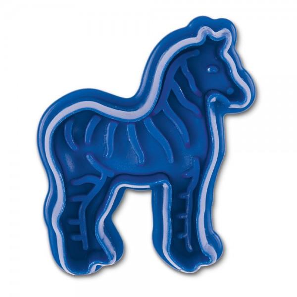 Prägeausstecher Zebra ca. 6 cm Blau