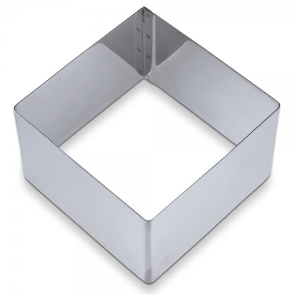Dessertring Quadrat ca. 6,5 x 6,5 x 4 cm