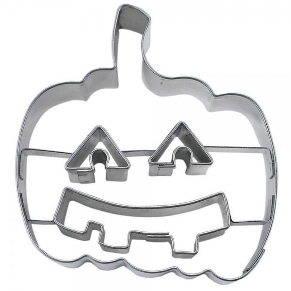 Prägeausstecher Kürbis mit Gesicht / Halloweenkürbis ca. 6,5 cm