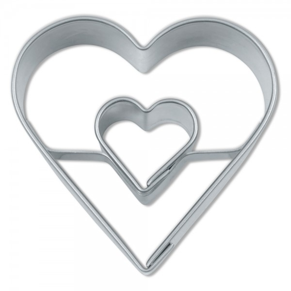 Ausstecher Herz in Herz ca. 4 cm