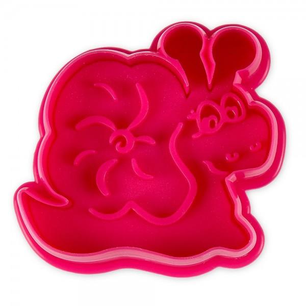 Prägeausstecher Schnecke ca. 6,5 cm Pink