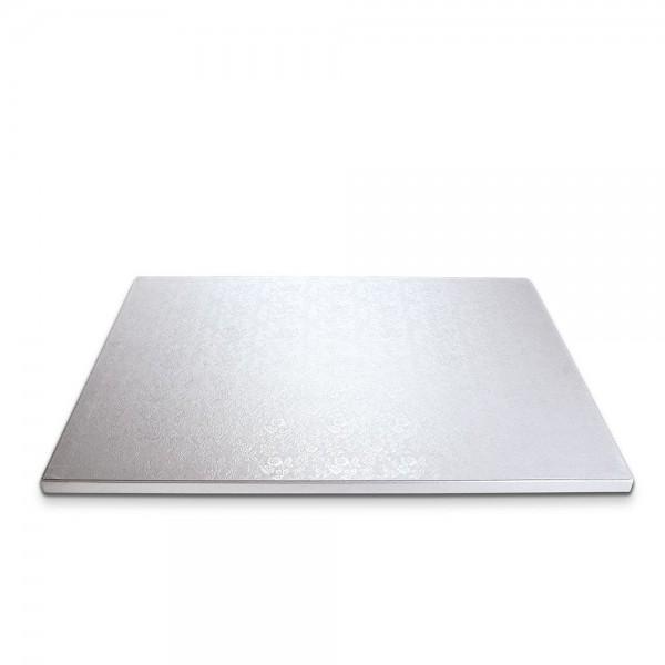 Kuchenplatte ca. 40 x 30 cm Weiß Rechteck extra stark