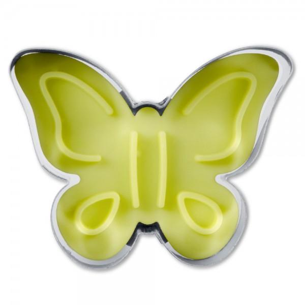 Prägeausstecher Schmetterling ca. 5 cm Gelb