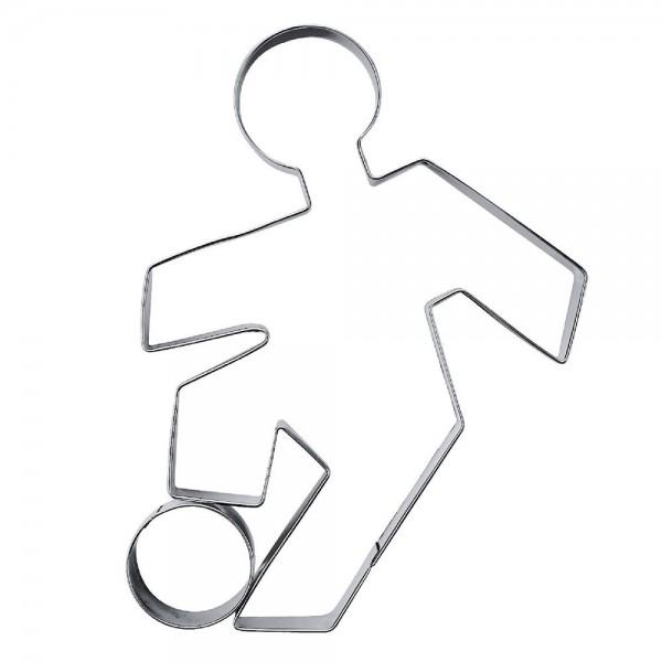 Prägeausstecher Fußballspieler ca. 9 cm