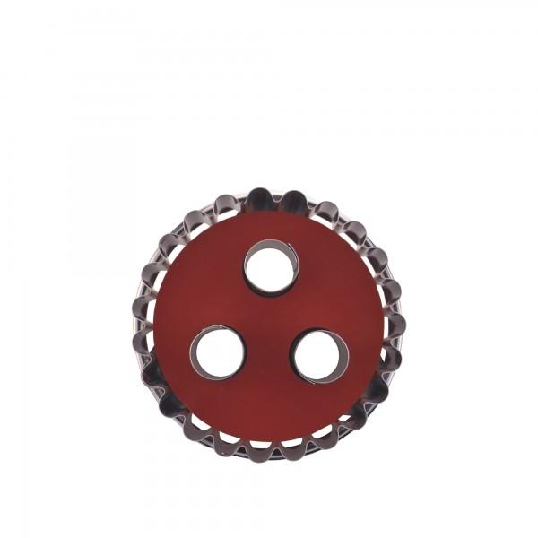 Ausstecher Linzer 3-Loch ca. 4,8 cm zerlegbar