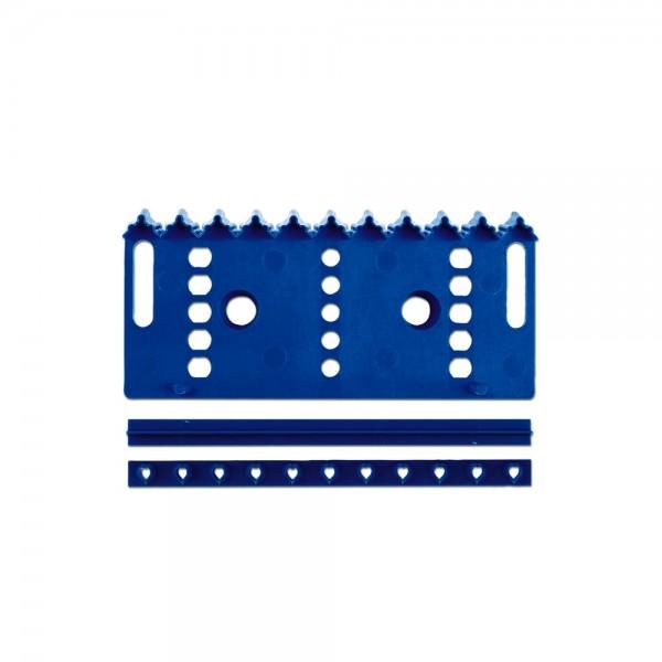 Prägestempel Bordüre ca. 14,5 cm Blau Set, 3-teilig