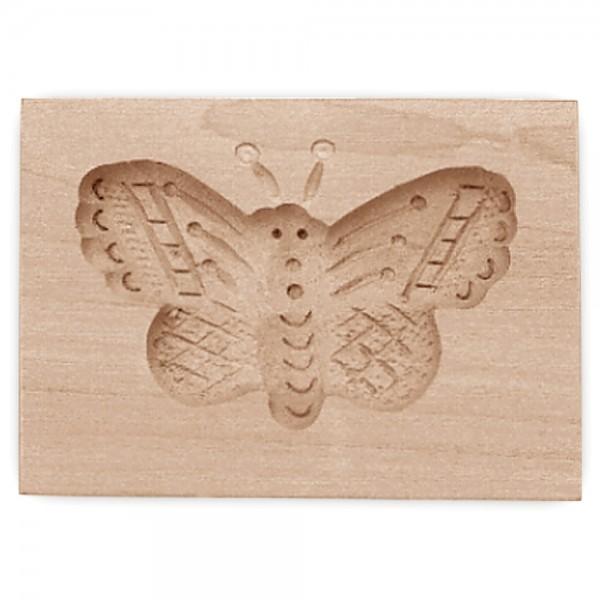 Holz-Prägeform Schmetterling ca. 8 x 5,5 cm
