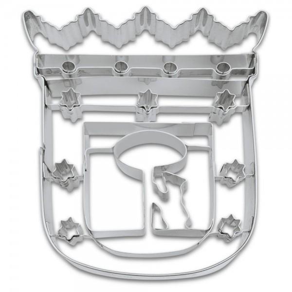 Prägeausstecher Madrid Wappen ca. 10,5 cm