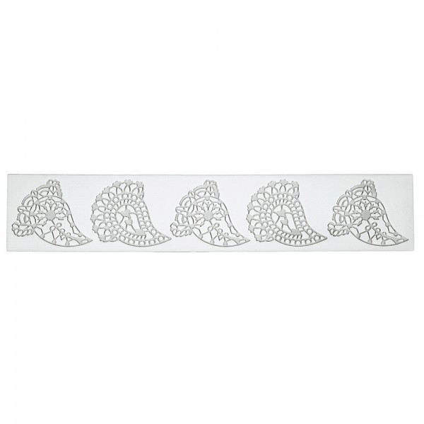 Dekormatte Paisley ca. 39,5 x 7,5 cm Weiß Silikon