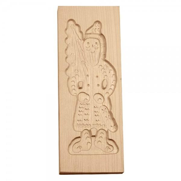 Holz-Prägeform Weihnachtsmann ca. 9 x 25 cm