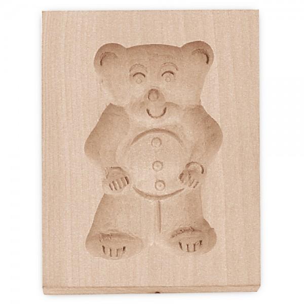 Holz-Prägeform Teddybär ca. 5,5 x 8 cm