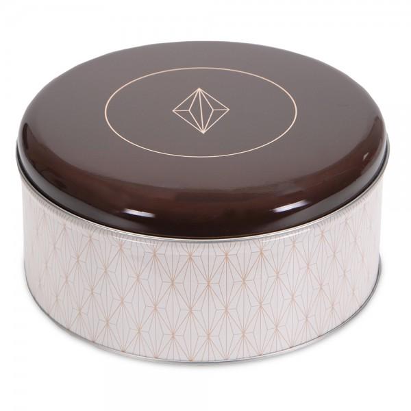 Plätzchendose Vanilla Diamonds ca. ø 22 x 9,5 cm Bunt Rund