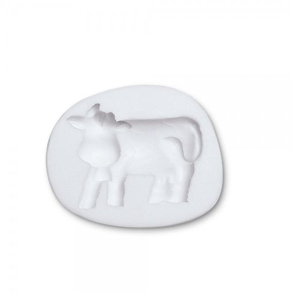 Prägeform  Kuh ca. 7 x 5,5 cm Weiß Reliefform