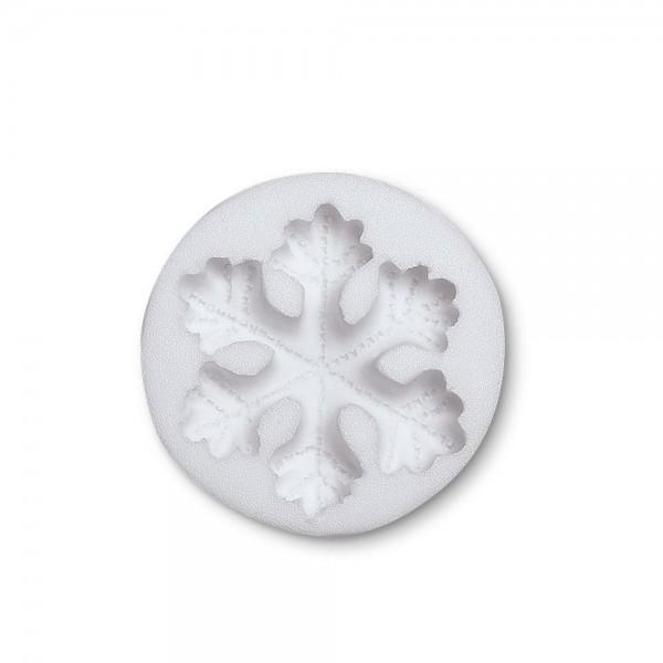 Prägeform  Schneeflocke ca. 6,5 cm Weiß Reliefform