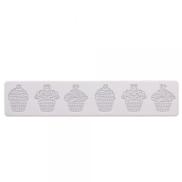 Dekormatte Törtchen ca. 39,5 x 8 cm Weiß Silikon