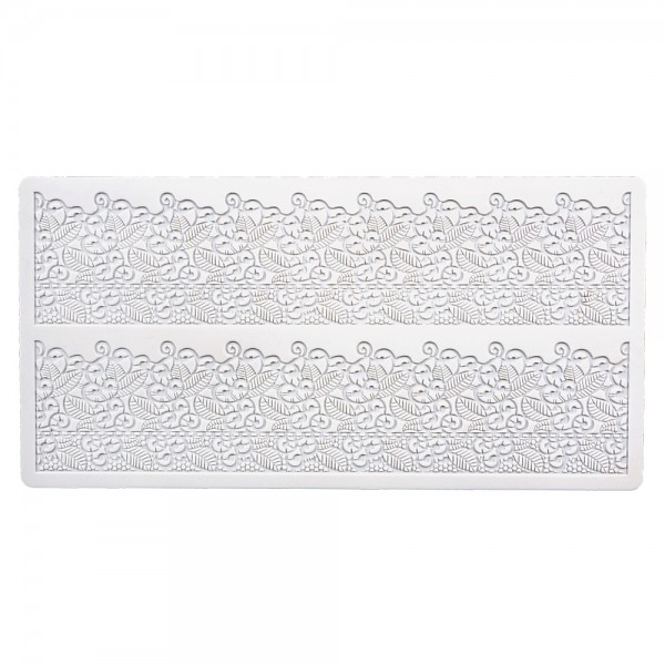 Bordürenmatte Romantik ca. 39,5 x 19,5 cm Weiß Silikon