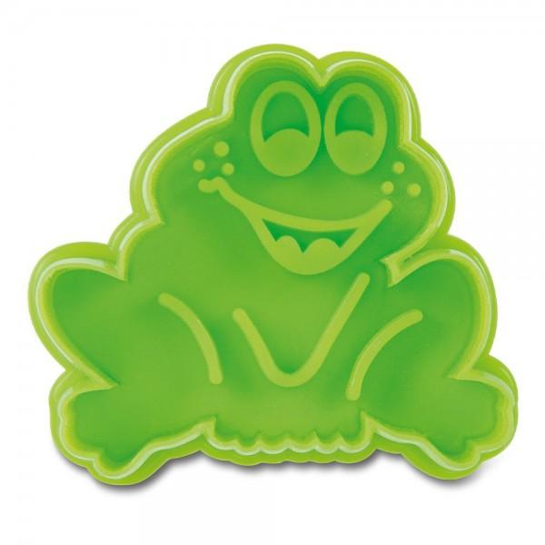 Prägeausstecher Frosch ca. 5,5 cm Grün