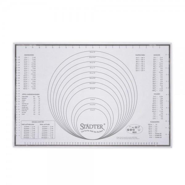 Silikon-Unterlage - Maxi ca. 60 x 40 cm Weiß