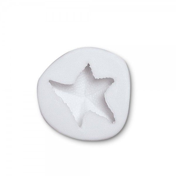 Prägeform  Seestern ca. 5 cm Weiß Reliefform