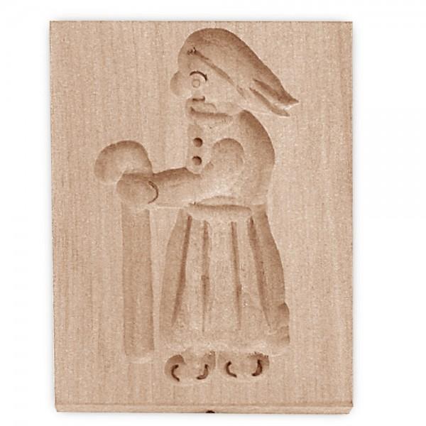 Holz-Prägeform Hexe ca. 5,5 x 8 cm