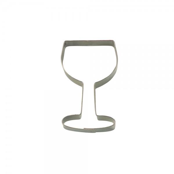 Ausstecher Weinglas ca. 8 cm
