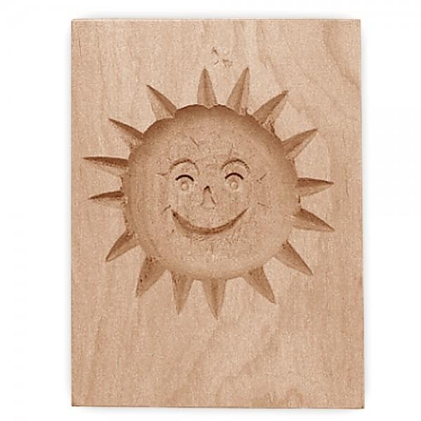 Holz-Prägeform Sonne ca. 5,5 x 8 cm
