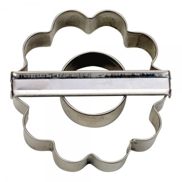 Ausstecher Mandelring ca. 6 cm gewellt
