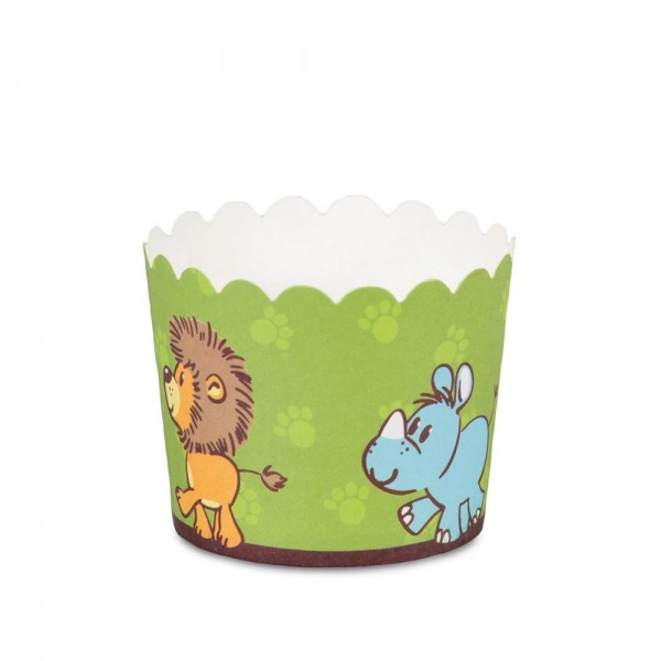 Cupcake Backform Echte Freunde ø 50 x 47 mm Grün Mini 12 Stück