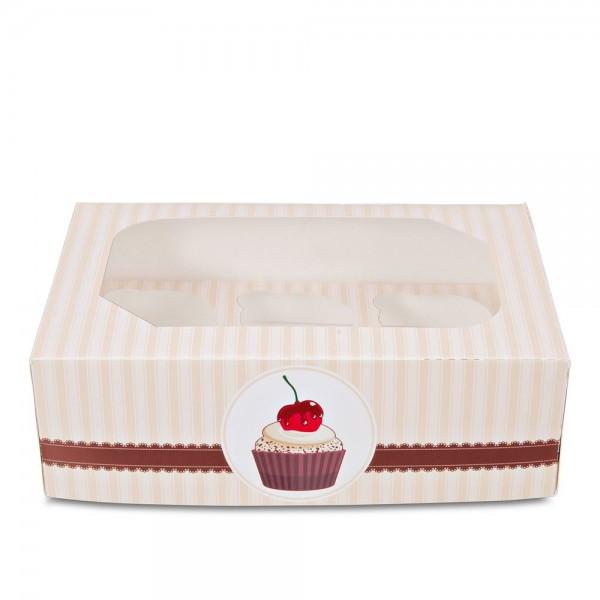 Muffinbox Kaffeehaus ca. 24 x 16,5 x 7,5 cm 6er Set, 2-teilig