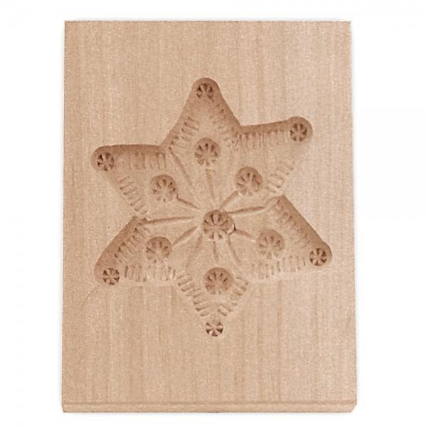 Holz-Prägeform Stern ca. 5,5 x 8 cm