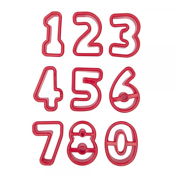 Ausstecher Zahlen ca. 3,5–4 cm Set, 9-teilig